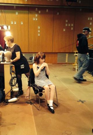 Kaitlyn backstage makeup